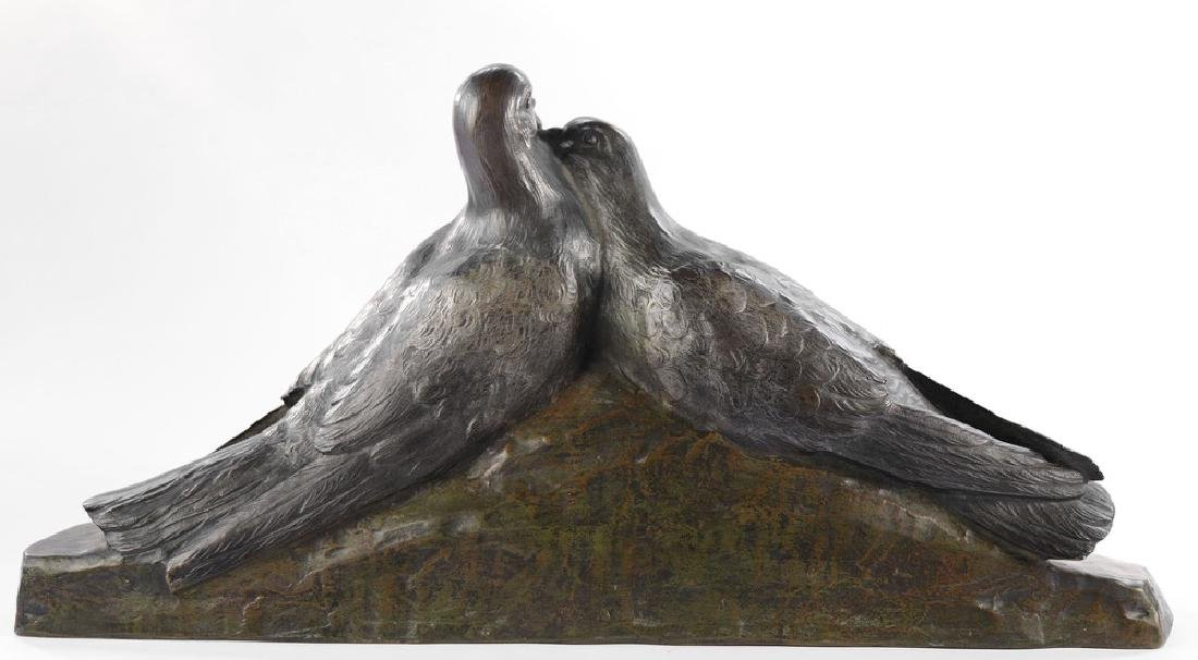 Giuseppe D'Aste (Italian 1881 - 1945) Bronze Lovebirds - 2