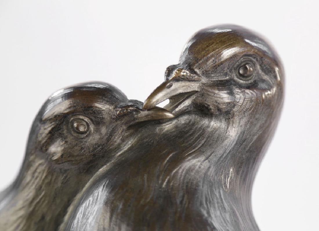 Giuseppe D'Aste (Italian 1881 - 1945) Bronze Lovebirds - 3