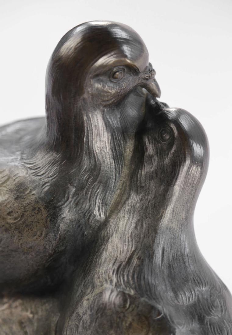 Giuseppe D'Aste (Italian 1881 - 1945) Bronze Lovebirds - 4