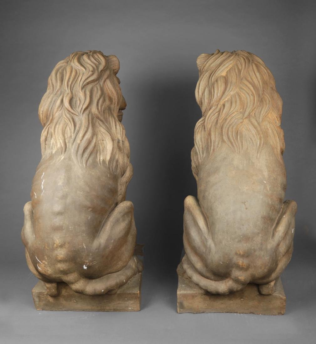 Pair of Italian Terracotta Lions - 12