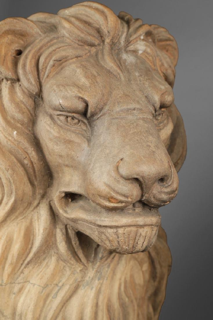 Pair of Italian Terracotta Lions - 4