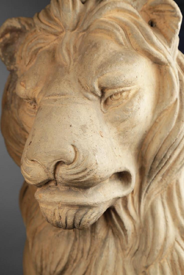 Pair of Italian Terracotta Lions - 5