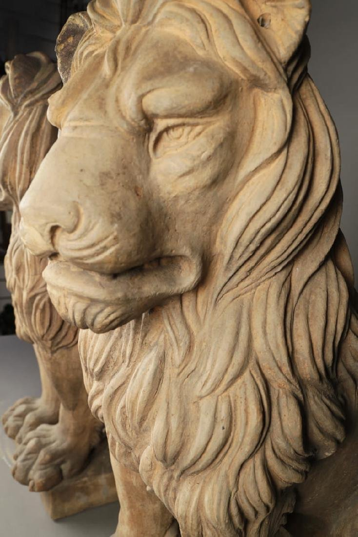 Pair of Italian Terracotta Lions - 7