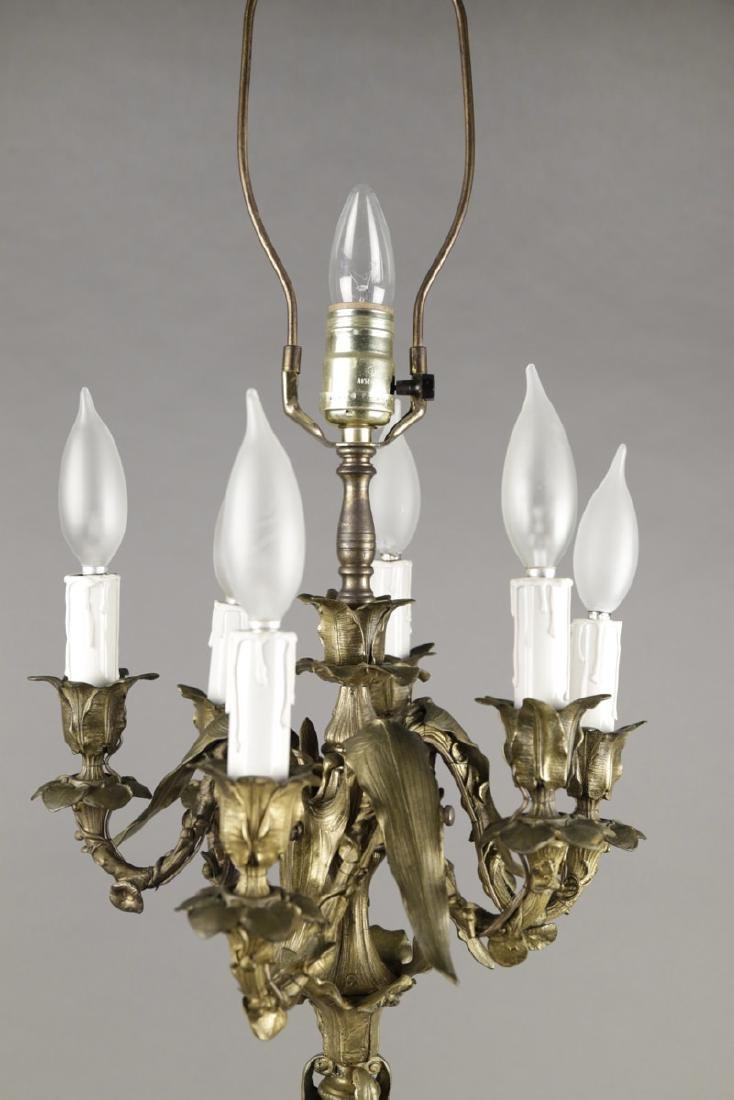 Finely Cast French Bronze Six Light Candelabrum - 3