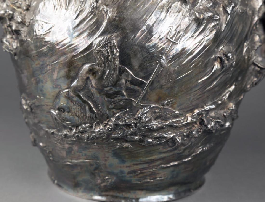 An Art Nouveau Silvered Figural Vase, c.1900 - 2