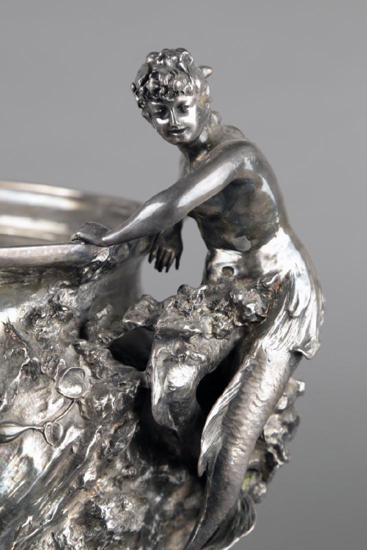 An Art Nouveau Silvered Figural Vase, c.1900 - 3