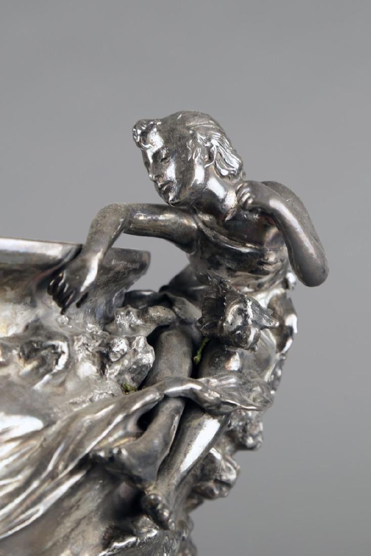 An Art Nouveau Silvered Figural Vase, c.1900 - 4