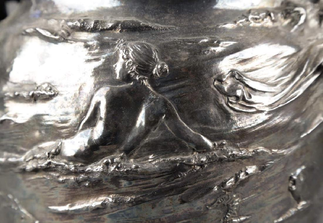 An Art Nouveau Silvered Figural Vase, c.1900 - 5