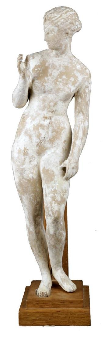 A Terracotta Figure of a Standing Nude, c. 1920