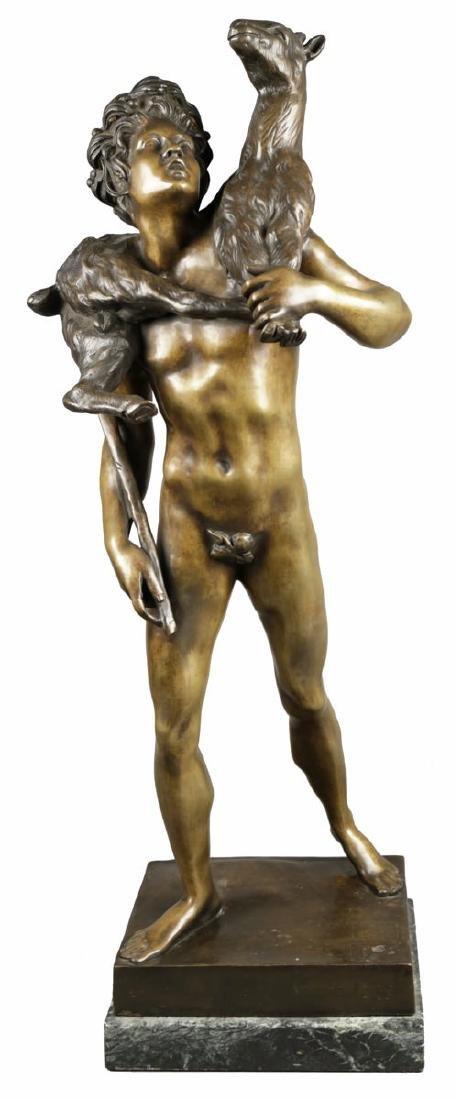 Bronze Figure of Classical Shepherd, after Picault