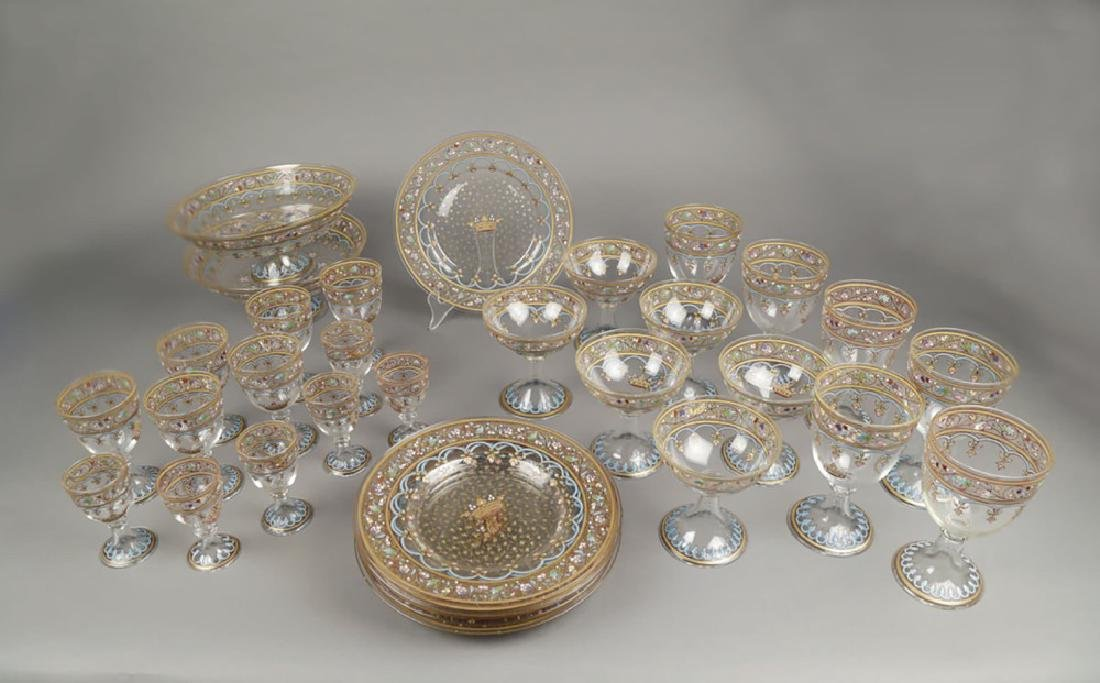 Jacques Philippe Imberton, French Glass Service