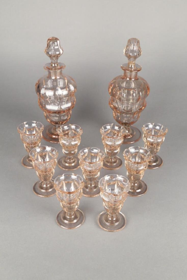 Moser Alexandrite Glass Cordial Set