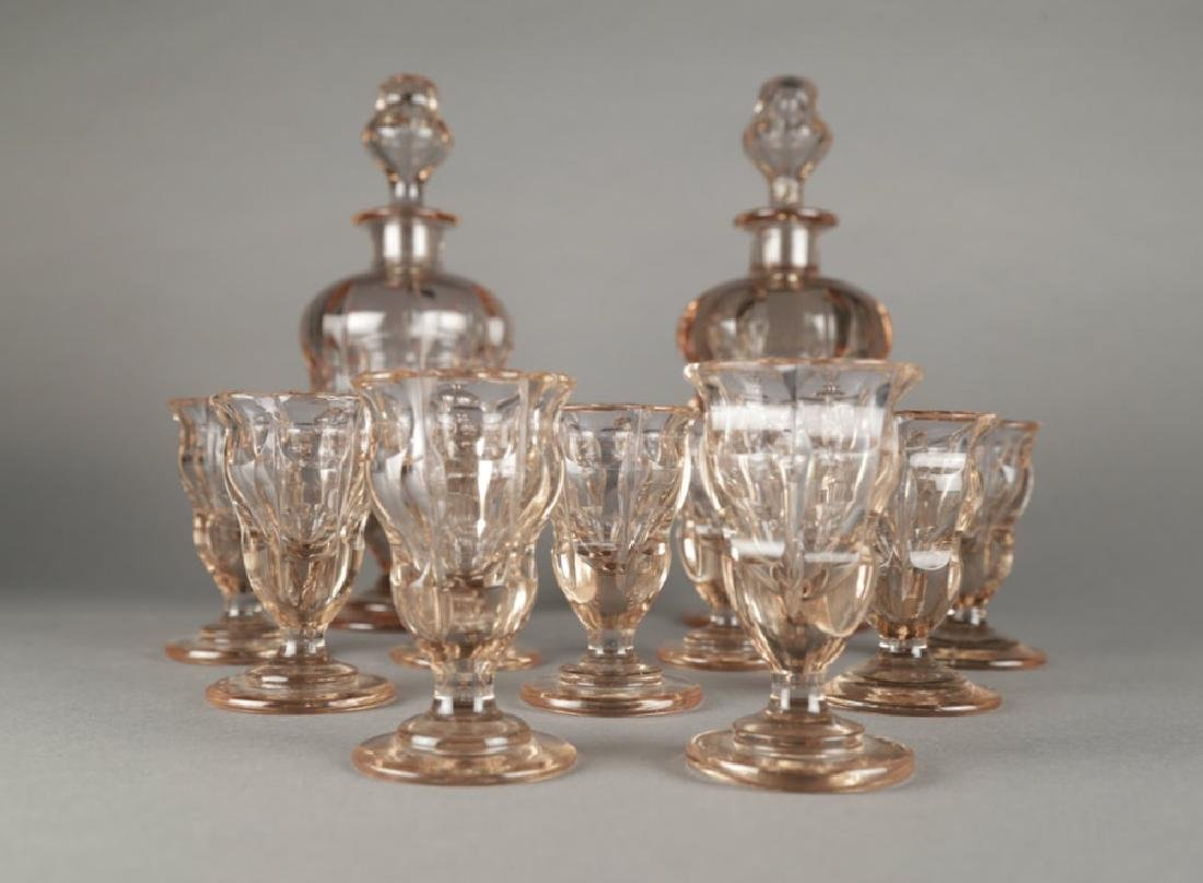Moser Alexandrite Glass Cordial Set - 2