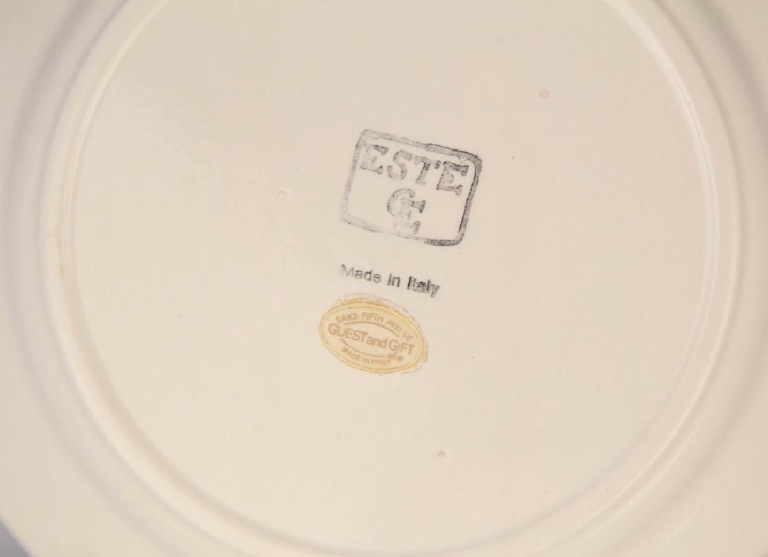 Group of Trompe l'oeil ceramic plates - 6
