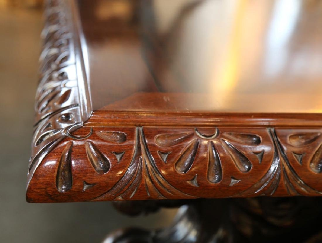 Italian Baroque Style Walnut Library or Refectory Table - 3