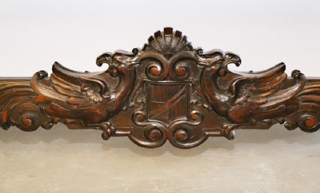 Italian Baroque Style Walnut Library or Refectory Table - 6