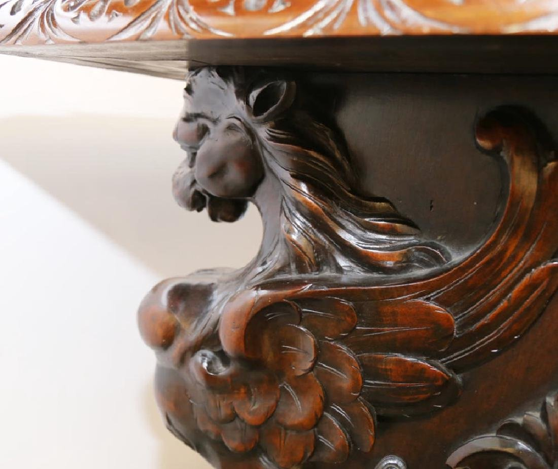 Italian Baroque Style Walnut Library or Refectory Table - 8