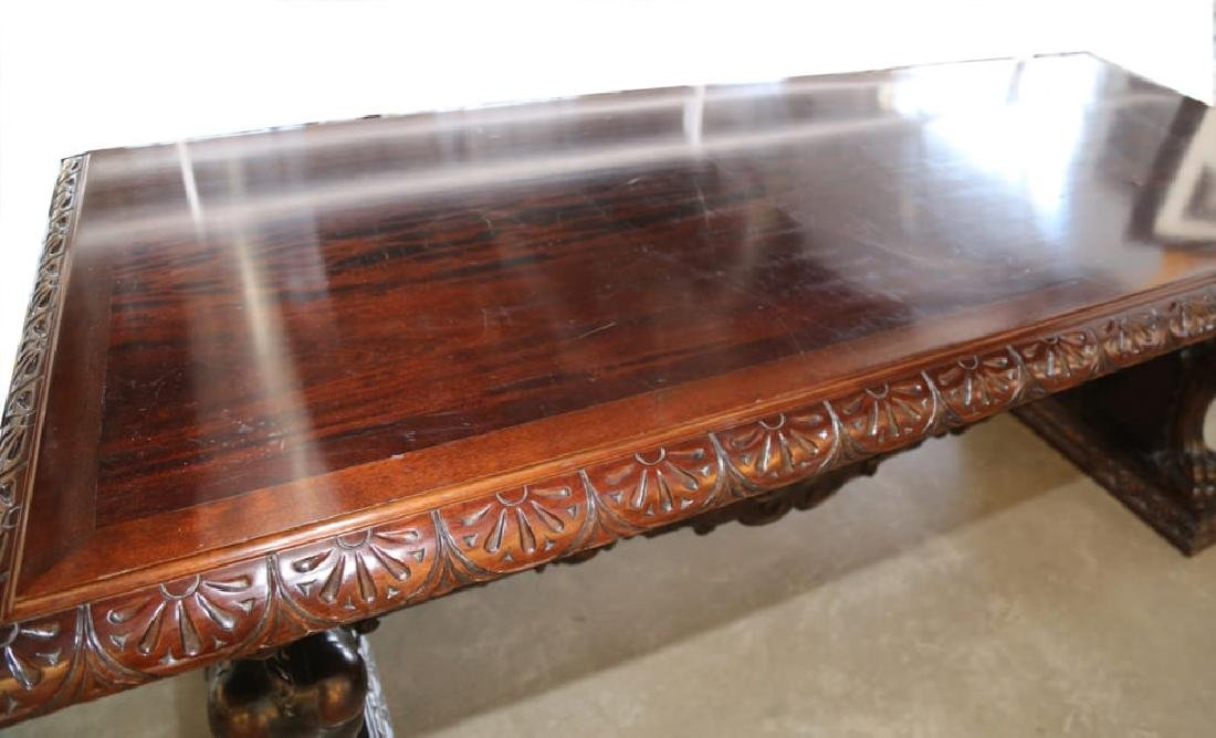Italian Baroque Style Walnut Library or Refectory Table - 9