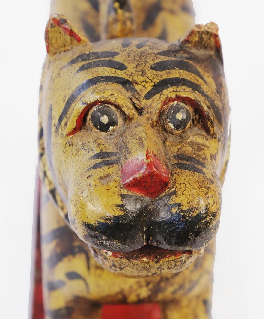 Southeast Asian Carved and Painted Wood Tiger - 4