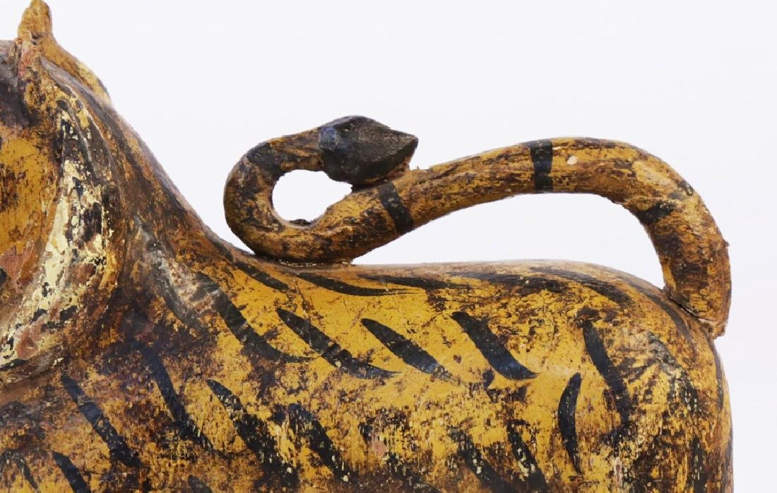 Southeast Asian Carved and Painted Wood Tiger - 5