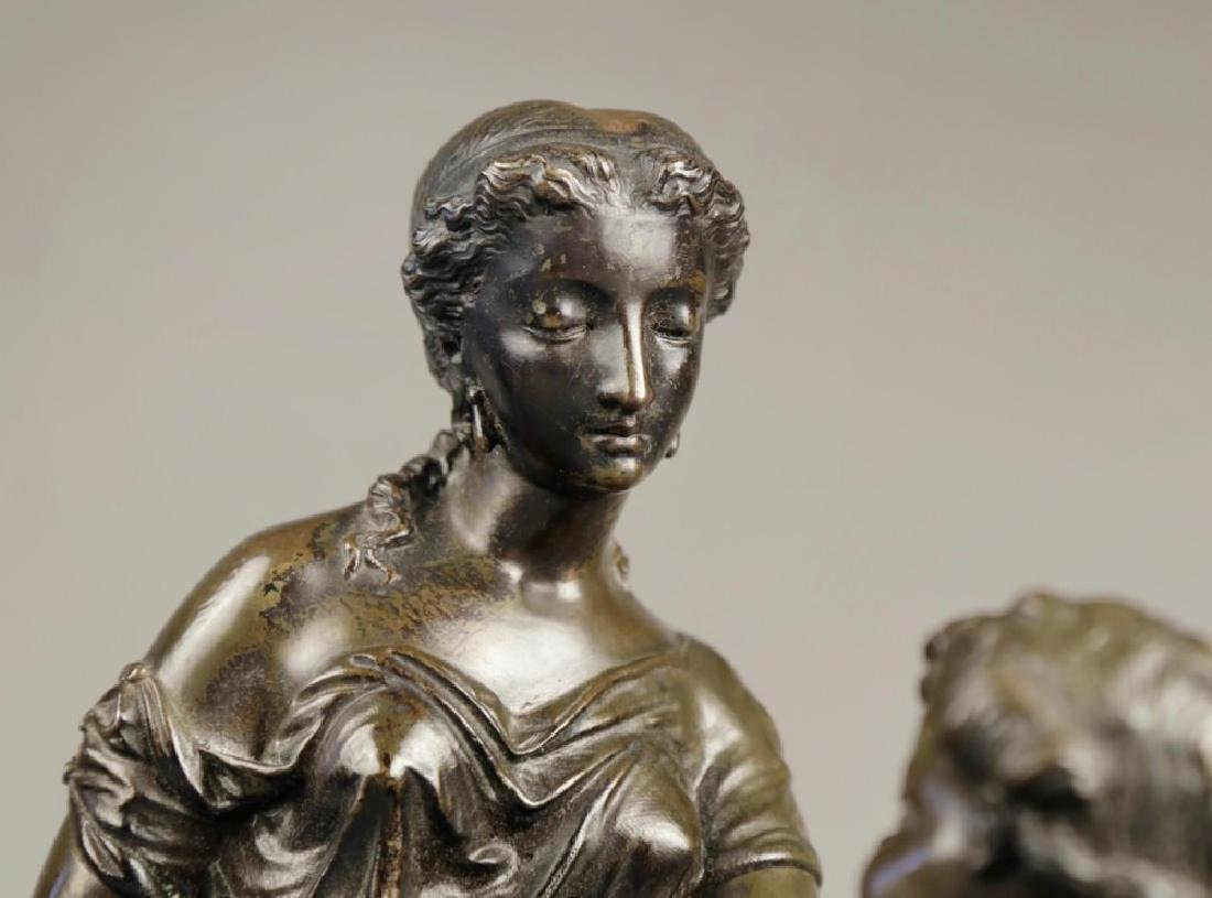 Bronze Figural Group of a Mother and Child, 19th c. - 5