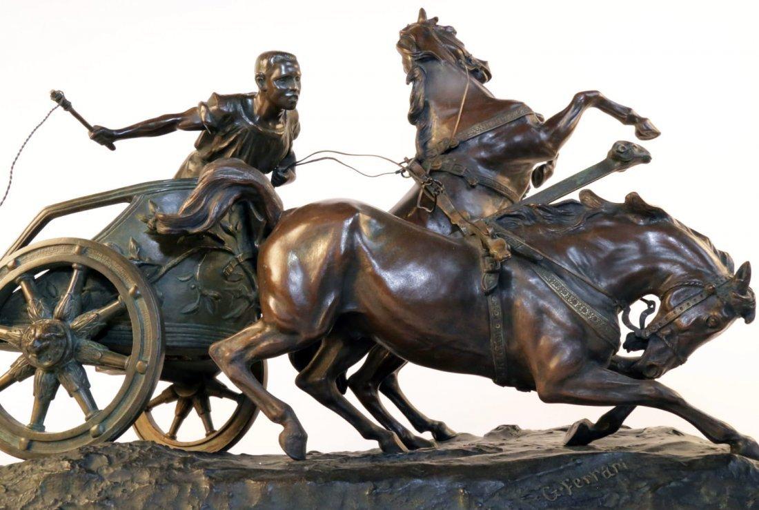Giuseppe Ferrari (Italian 1840 - 1905) Bronze Chariot
