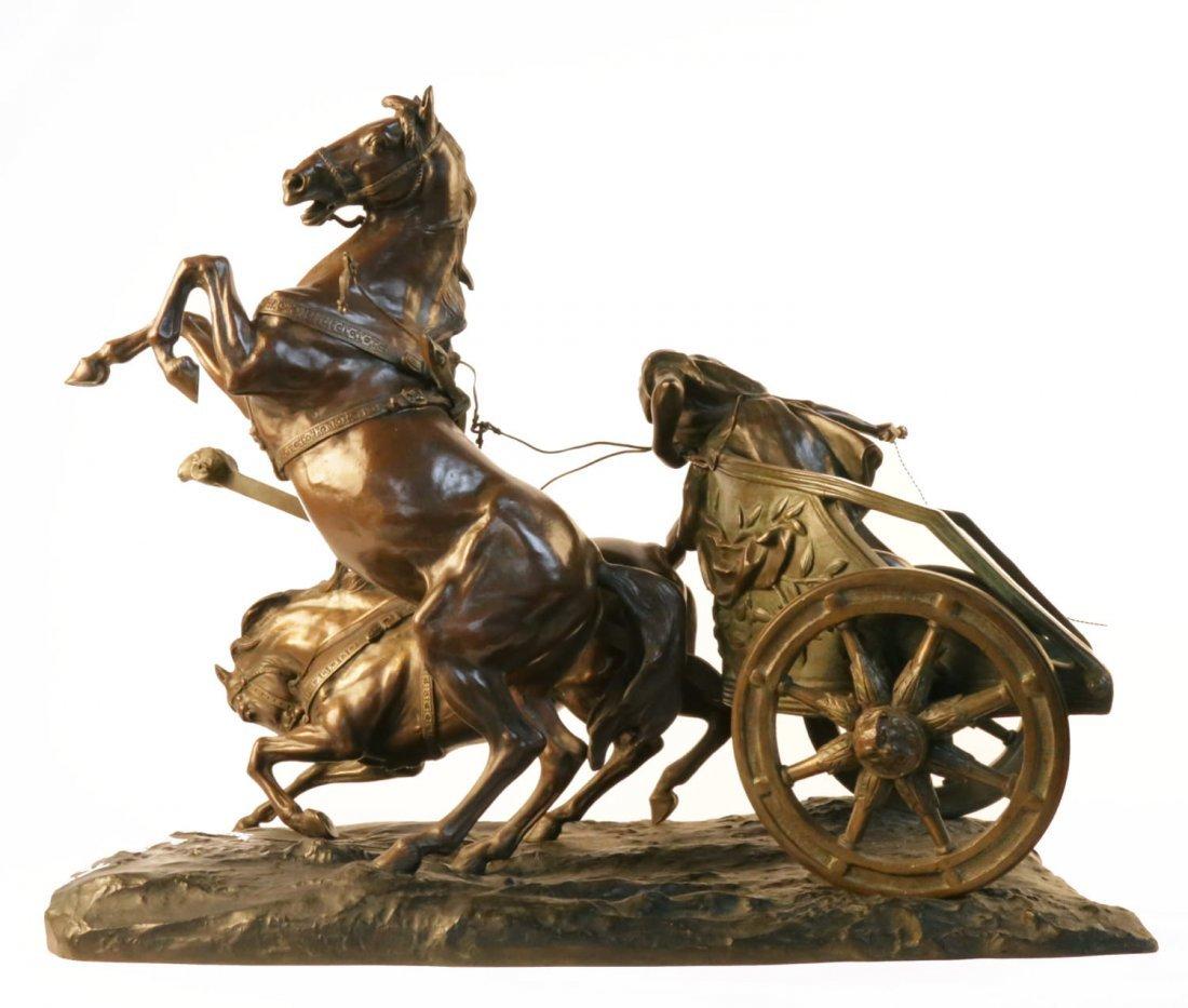 Giuseppe Ferrari (Italian 1840 - 1905) Bronze Chariot - 2