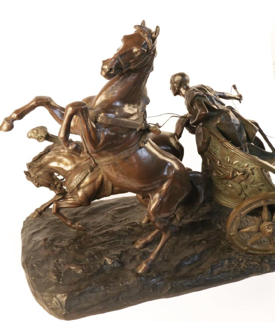 Giuseppe Ferrari (Italian 1840 - 1905) Bronze Chariot - 4