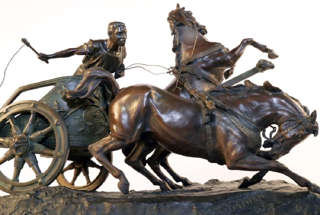 Giuseppe Ferrari (Italian 1840 - 1905) Bronze Chariot - 5
