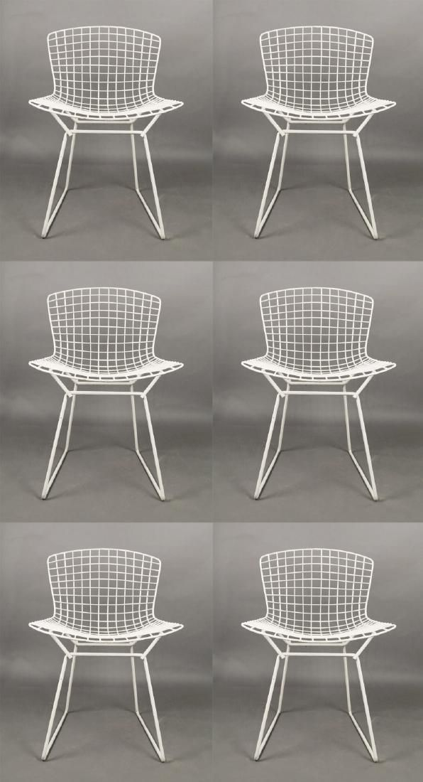 Set of Six Harry Bertoia Side Chairs for Knoll, 1960