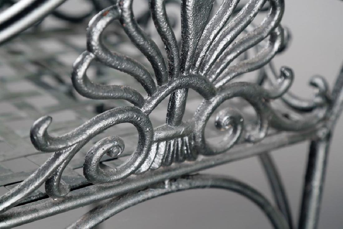 An Empire Cast Iron Plant Stand, 19thc. - 4