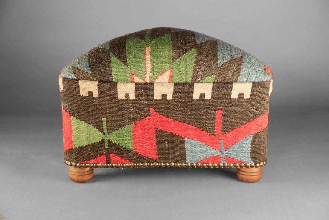 Upholstered Kilim Stool - 3