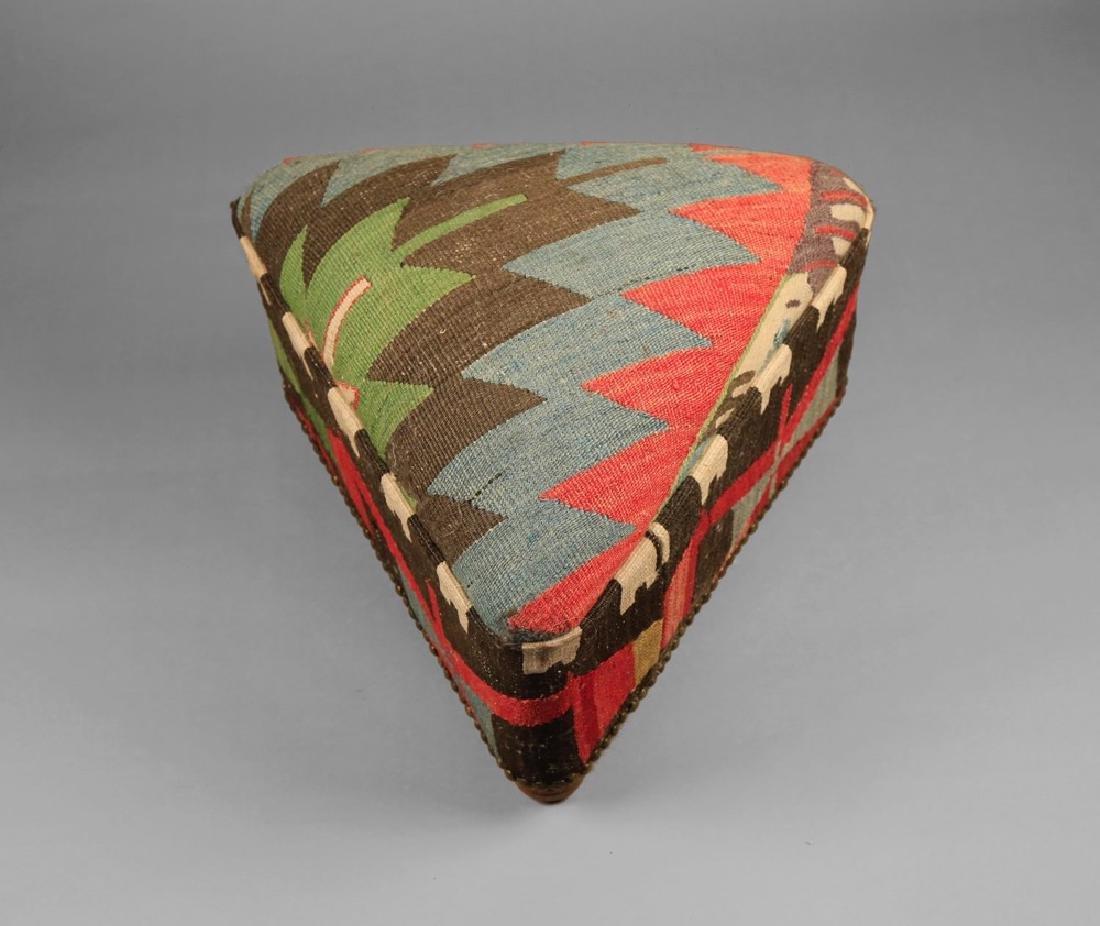 Upholstered Kilim Stool - 4