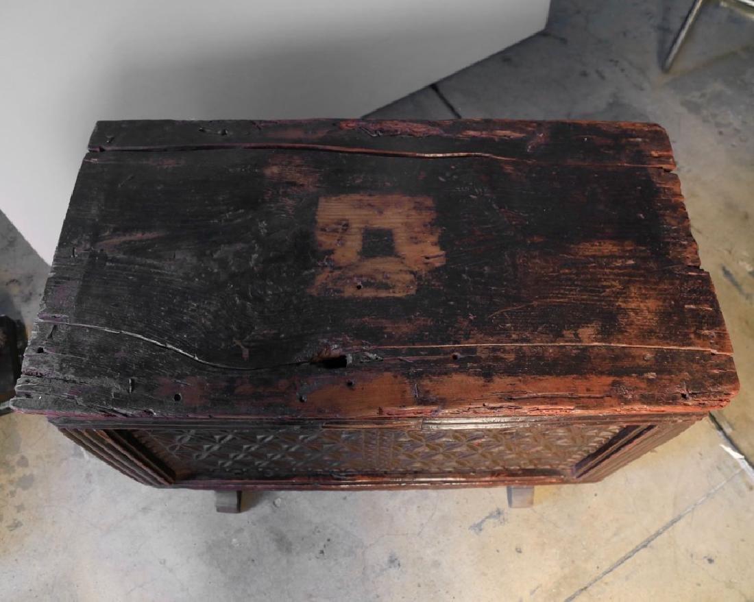 Carved Walnut Coffer, c. 16thc. - 4