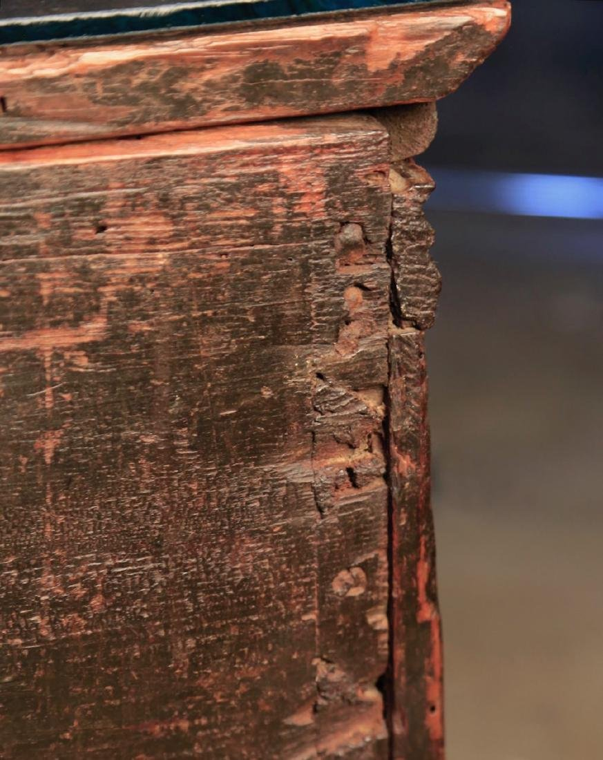 Carved Walnut Coffer, c. 16thc. - 8