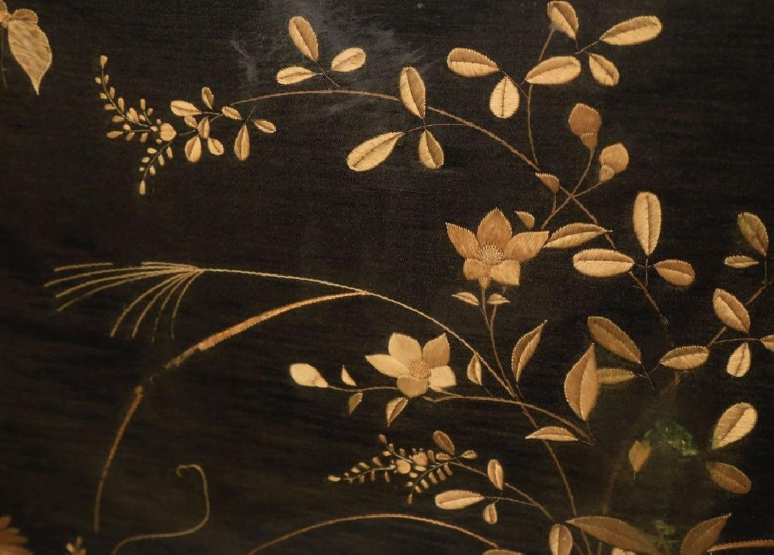 An Aesthetic Movement Fire Screen with Silk Embroidery - 3
