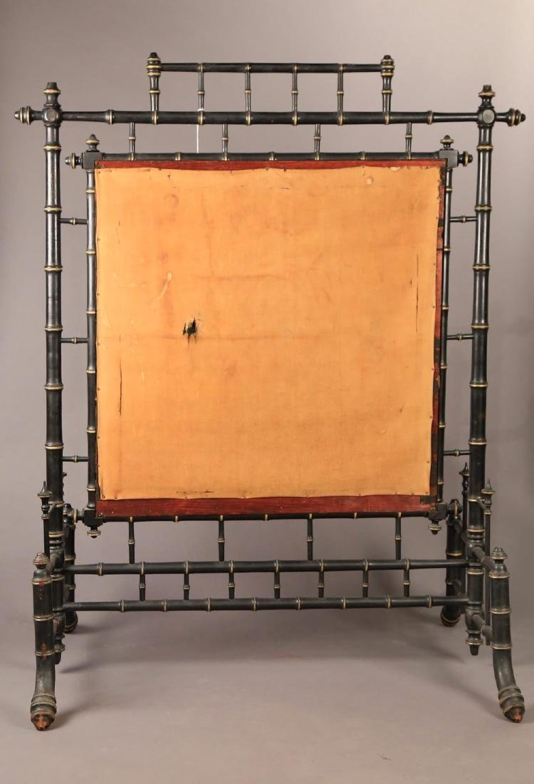 An Aesthetic Movement Fire Screen with Silk Embroidery - 7