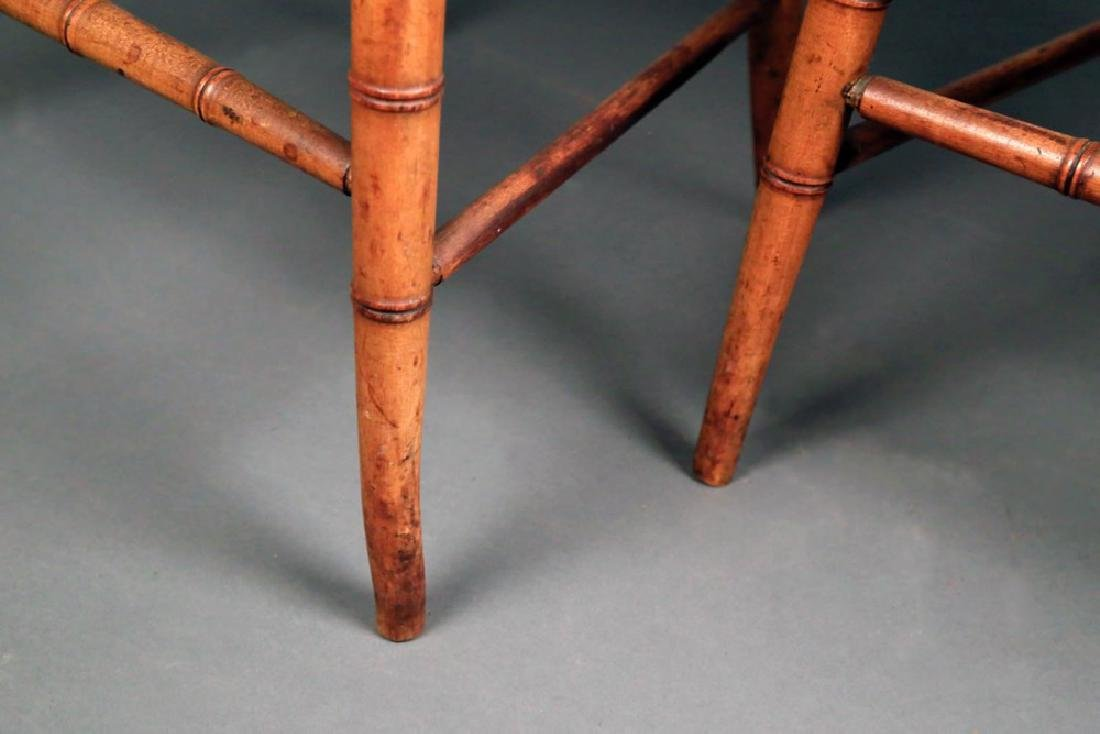 Pair Faux Bamboo Ballroom Chairs, Early 19thc. - 3