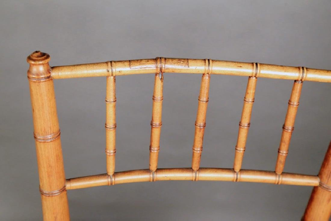 Pair Faux Bamboo Ballroom Chairs, Early 19thc. - 5