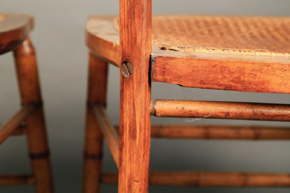 Pair Faux Bamboo Ballroom Chairs, Early 19thc. - 8