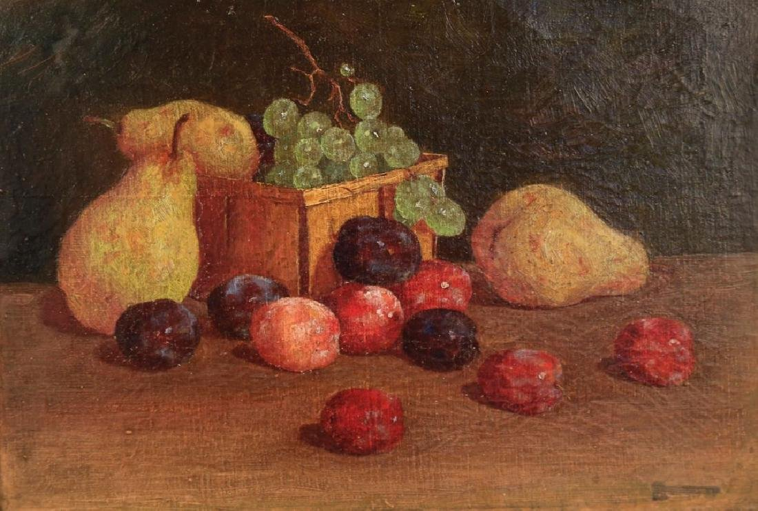 19thc. American School, Still Life with Fruit, ca 1890 - 2