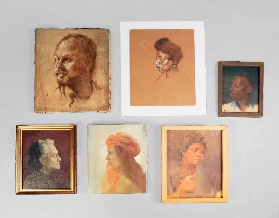 Lot of Seven Portraits by Herbert Steinberg, American
