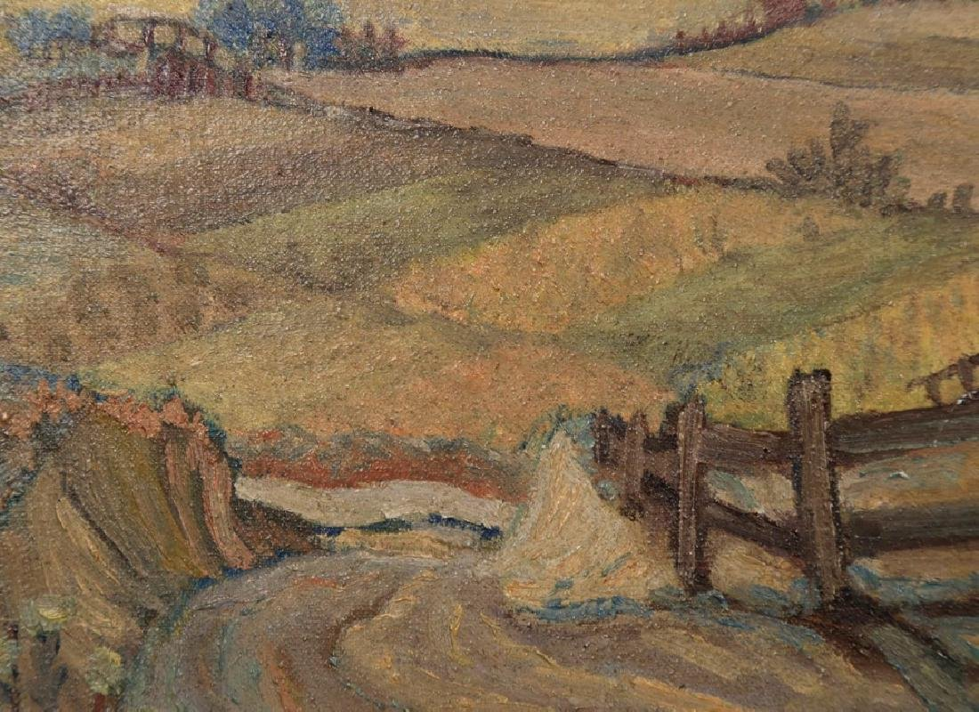 M.Ottens, Landscape Over a Farm with Mountain View - 4