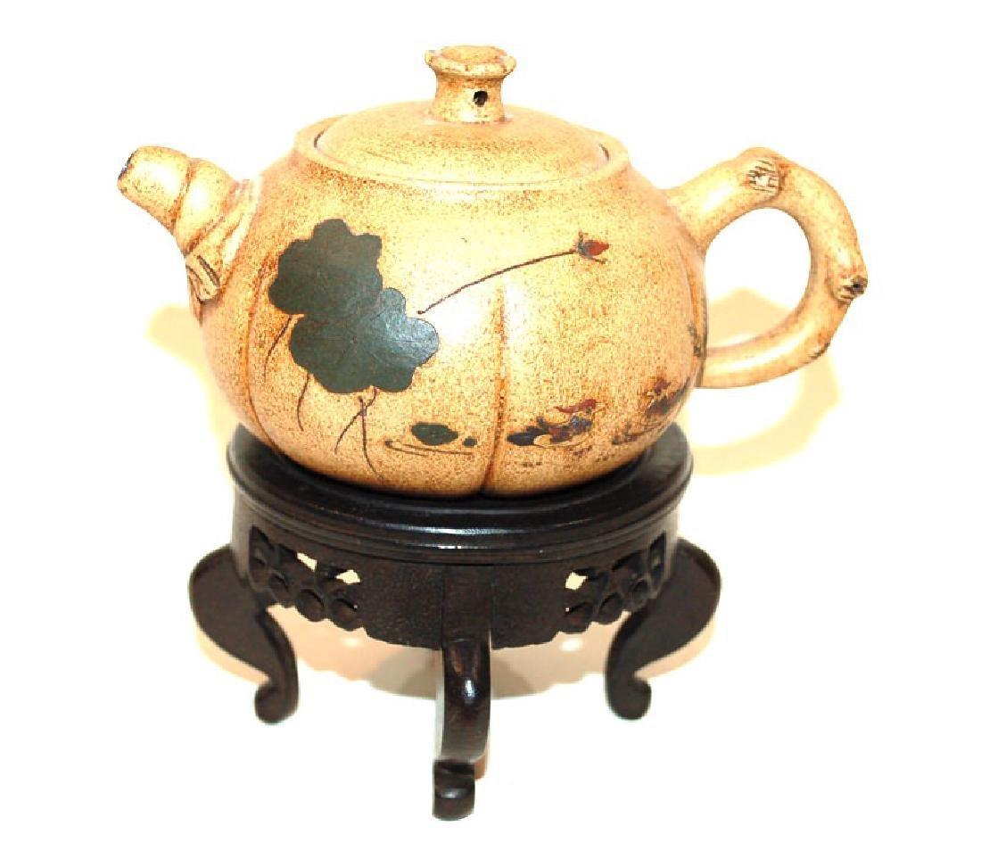 A Chinese Yi Xing Teapot