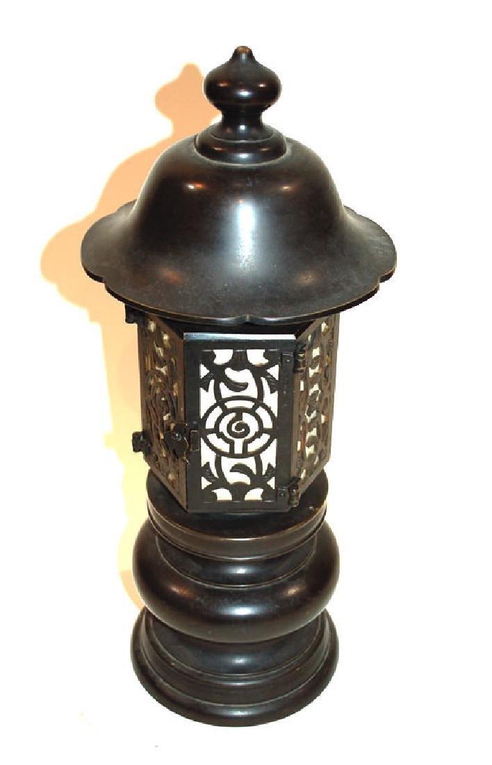 A Japanese Bronze Buddhist Bronze Temple Lantern - 2
