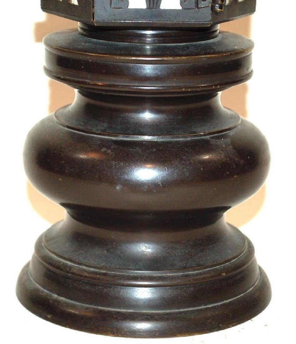 A Japanese Bronze Buddhist Bronze Temple Lantern - 3