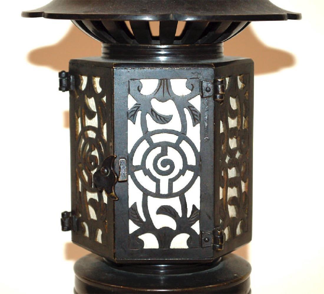 A Japanese Bronze Buddhist Bronze Temple Lantern - 4