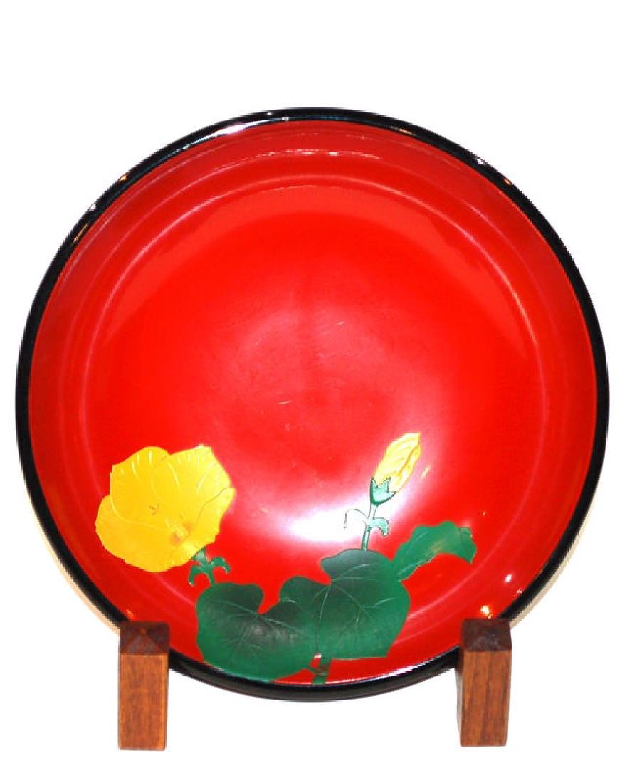 A Japanese Red Lacquer Bowl, Okinawa