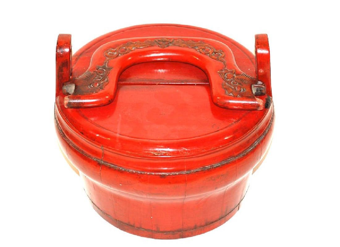 A Chinese Lacquer Handled Basket, Fujian Eastern China - 5
