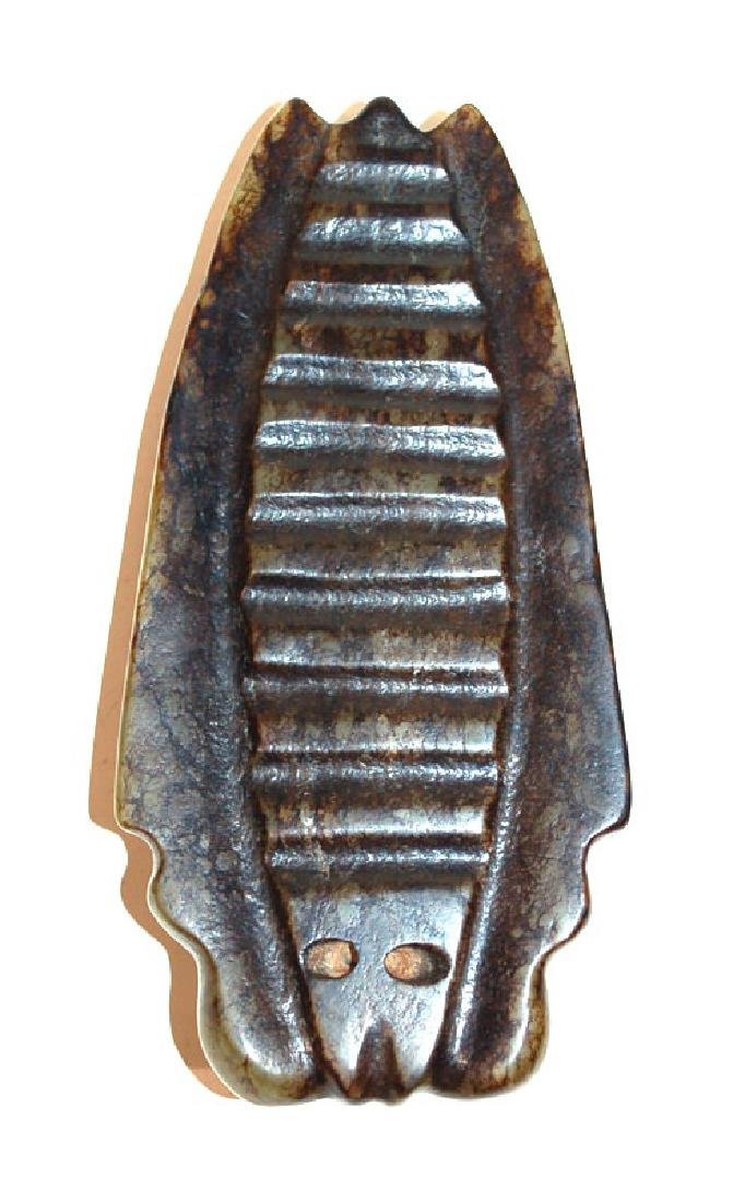 A Chinese Jade Scarab form Paperweight, Song Dynasty - 2